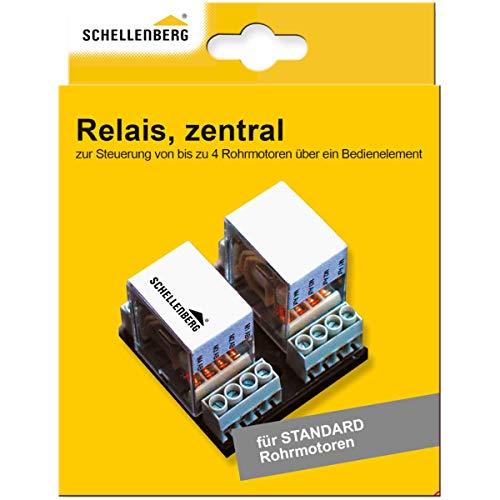 Schellenberg 24200 Relais zentral für komfortable Rollladensteuerung, Gleichzeitige Steuerung von Rohrmotoren über einen Schalter oder Zeitschaltuhr
