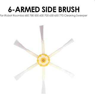 Lixada Robot Vacuum Cleaner Parts Side Brush 6-armed Replacement for iRobot Roomba 500 600 700 Series Cleaning Sweeper