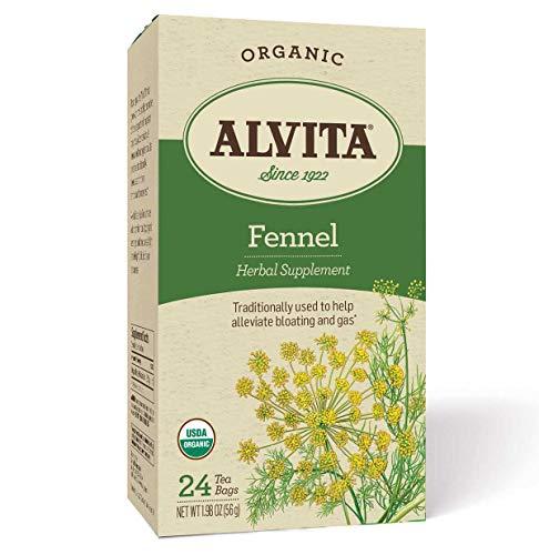 Alvita Organic Herbal Tea, 24 Teabags Per Box, Multipack (Fennel Seed, Pack of 4)