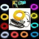 GOZAR 5M El Neon Luce Effetto Cavo Cable Wire 12V Inverter - Blu...