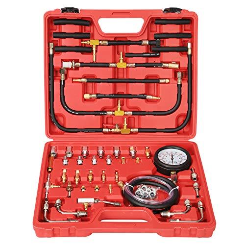 Yonligonju Fuel Injection Pressure Tester Gauge Kit 0-140PSI/10 Bar, Universal for Car Motorcycle Truck or Mechanics