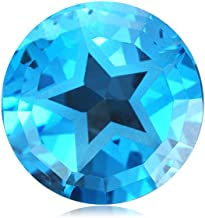 Swiss Blue Topaz Round Texas Star Shape AAA/AA Quality Loose Gemstone from 7MM -13MM