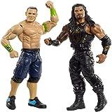 WWE- Pack de 2 Figuras de acción, John Cena y Roman Reigns (Mattel GBN51)