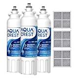 AQUACREST ADQ73613401 Refrigerator Water Filter and Air Filter, Replacement for LT800P, ADQ73613402, ADQ73613408, ADQ75795104, Kenmore 9490, 46-9490 (Pack of 3)
