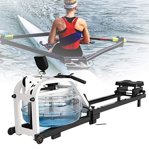 HNWTKJ Máquinas De Remo, Máquina De Remo De Agua Gimnasio En Casa Máquina De Remo Plegable Resistente Al Agua Ejercicio Aeróbico Equipo De Fitness con Pantalla LCD