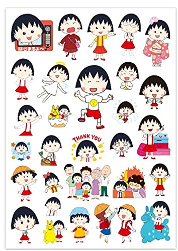 Cherry Maruko - Pegatina para maleta de equipaje con diseño de caricatura, 29 unidades
