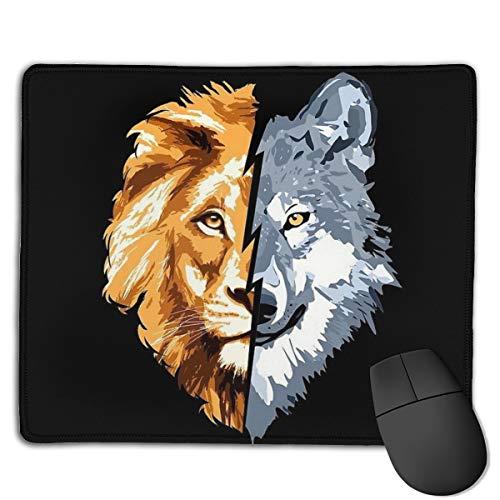 Wolf Vs Lion Gaming Muis Mat Office Pad Bureau Toetsenbord Mat Grote Muis Pad Voor Computer Grootte 18 cm Lang En 22 cm Breed Desktop PC Laptop Bureau Pad, Decoratie Bureau Bescherming