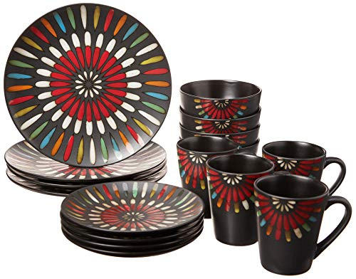 American Atelier 16 Piece Stellata Dinnerware Set, Multicolor.