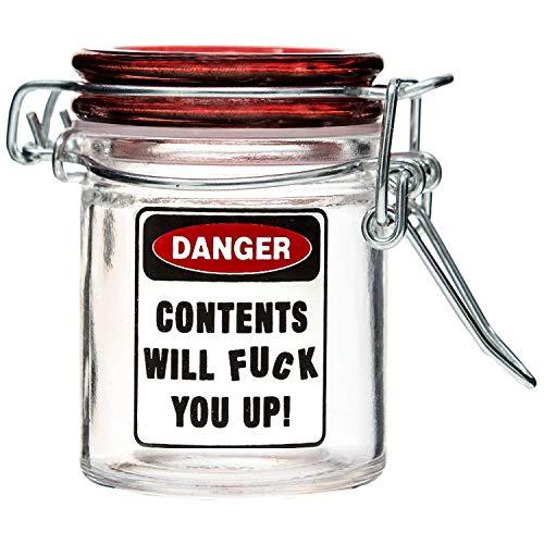 Marijuana Pot Buds Stash Jar w/Clamping Lid In Choice Of Design (F You Up)