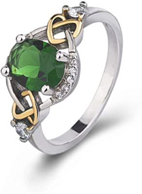 Lady Ring Mkxiaowei Ring Round Inlaid Gemstone Ring