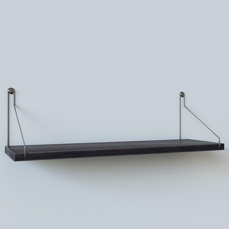 CQ Wandregal ohne Perforation Schlafzimmer Wandbehang Modern vereinfacht EIN Wort Partition Eisen Bücherregal Lagerregal (Farbe   schwarz)