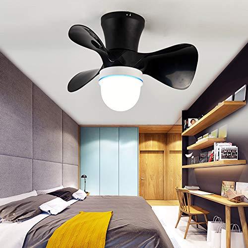 CGXYZ - Ventilador de Techo con Mando a Distancia, 3 Aspas, Potencia de 36W, Ultrasilencioso, 58 cm de Diametro, 6 Velocidades (Negro)