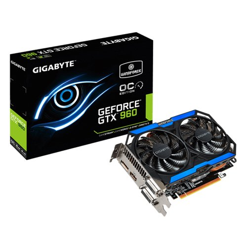 GIGABYTE GeForce GTX 960 OC 2GB WINDFORCE 2X Gamin