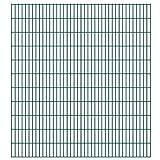 VIENDADPOW Zaunfelder 2D Gartenzaun-Elemente 2,008x2,23 m Gesamtlänge 14 m Grün