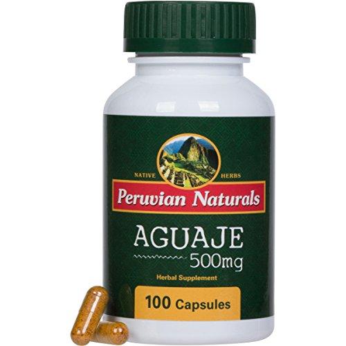 Aguaje 500mg - 100 Capsules - Peruvian Naturals | Moriche Palm Fruit Powder from Peru (