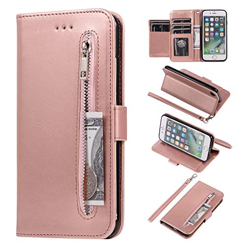 EYZUTAK Wallet Case for iPhone 6 iPhone 6S, 5 Card Slots Magnetic Closure...