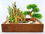 Bonseki Fontana Zen Giardino 40 x 25 cm in legno, con illuminazione Led. Personalizzabile, scopri le opzioni.