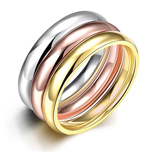 YAZILIND Moda joyería Exquisita Suave 3 Colores Titanio Ani