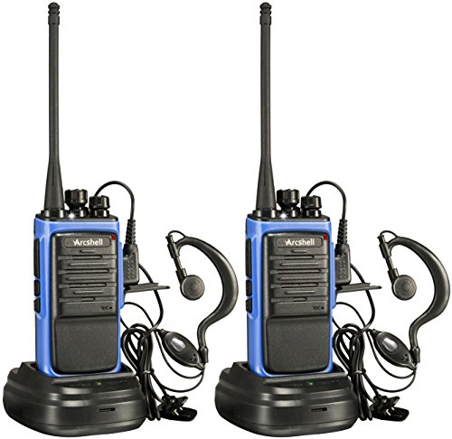 Find Cheap Arcshell Rechargeable Long Range Two-Way Radios with Earpiece 2 Pack UHF 400-470Mhz Walki...