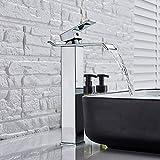 BDWS Grifo para lavabo caliente/frío, cromo/negro/cepillado monomando monomando...