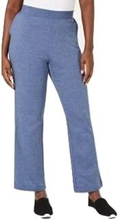 Karen Scott. Side-Pocket Active Fleece Pants Heather Indigo M