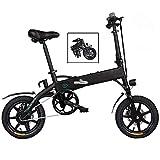 Qinmo Bicicleta eléctrica, Plegable E-Bici Bicicleta eléctrica for Adultos 36V 7.8 AH de Iones de Litio 25 kilometros/H Velocidad máxima E-MTB con Pantalla LED (Negro)