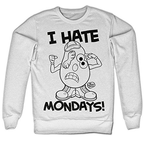 Mr Potato Hed I Hate Mondays Sweatshirt (White), Large