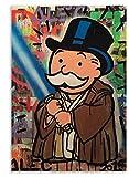 GuiYun Star Wars Alec Monopoly Posters Rompecabezas 1000 Piezas Juguetes para Adultos Juego de descompresión Material: cartón
