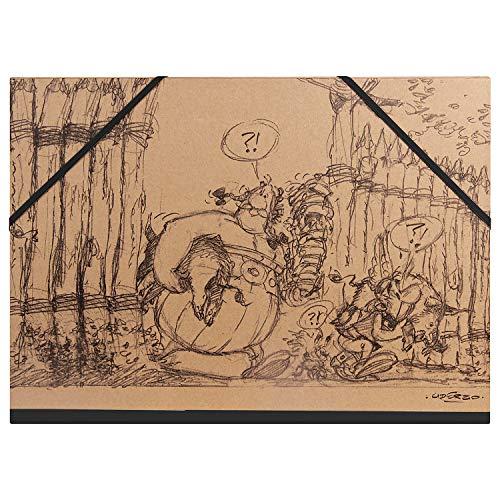 Clairefontaine 813012C - Un carton à dessin ''Astérix Crayonnés'' 32x45 cm (A3+), Kraft