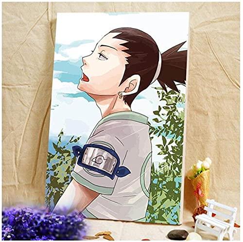 Pittura Digitale Con I Numeri Naruto Hokage Ninjia Regalo Di Pittura Digitale Fai Da Te Per Ragazzi Pittura A Olio Fai Da Te Con I Numeri Poster Di Cartone Animato Stile D 40X50Cm (Con Cornice)