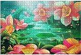 1000 piezas-Casas de setas en el jardín Ilustración Vector de madera DIY Niños educativos Regalo de descompresión para adultos Juegos creativos Juguetes Decoración-Color3