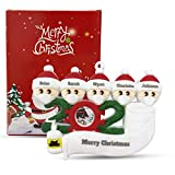 Personalized Quarantine Family 2020 Christmas Ornament Family Members of 2 Gifts for Grandkids Co-Workers Friends (Family of 5)