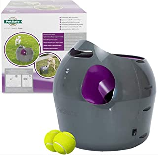 PetSafe PTY17-15849 Automatic Ball Launcher Dog Toy, Interactive Tennis Ball Throwing Machine for Dogs, Water Resistant