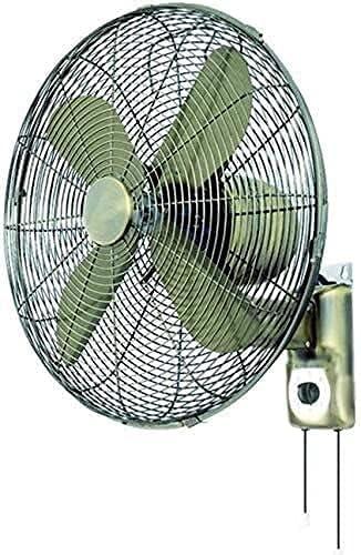 YZPDD Hogar Shaking Head Desktop Fan Industrial -Vintage Metal Wall Fans-Control Remoto Tiempo Antiguo Hogar Sacudida Cabeza Ventilador eléctrico