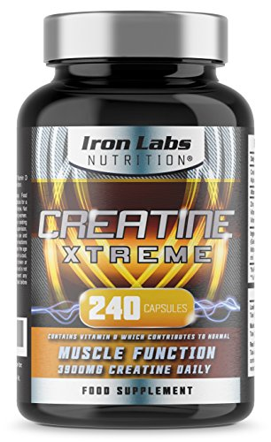 Creatine Xtreme: Pastillas de monohidrato de creatina avanzada (dosis de 4200 mg - 240 cápsulas). Suplemento...