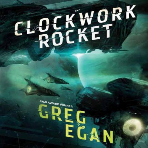 The Clockwork Rocket audiobook cover art