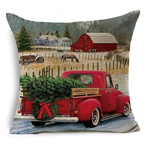 Rysmliuhan Shop Fundas Cojines Navidad Almohada Navidad Funda de cojín de Navidad Funda de Almohada de Navidad de diseño 9