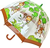 Bugzz, Regenschirm aus klarem PVC affe Einheitsgröße