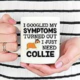 N\A Collie Mug Ho Cercato su Google i Miei sintomi Si è Scoperto Che Ho Solo Bisogno di Collie Collie Cane Tazza Collie Cane Regalo Collie Amante Regalo Divertente Collie Tazza di caffè