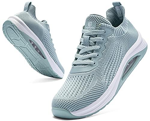 LARNMERN PLUS Sneakers Donna Cuscino d'Aria Running Mode Scarpe Verde 40