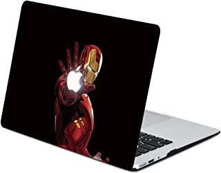 """AQYLQ Hard Case for 2020 2019 2018 MacBook Air 13 inch A2179 A1932 with Retina Display, Plastic Hard Shell Case Cover Compatible with Mac Air 13.3"""" with Touch ID, Iron Man KT1"""
