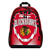 NHL Chicago Blackhawks 'Lightning' Backpack, 6.5' x 5.5' x 1'