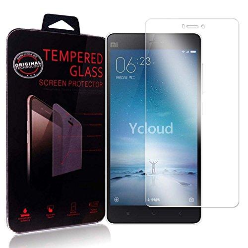Ycloud Panzerglas Folie Schutzfolie Bildschirmschutzfolie für Xiaomi Mi 4C screen protector mit Festigkeitgrad 9H, 0,26mm Ultra-Dünn, Abger&ete Kanten