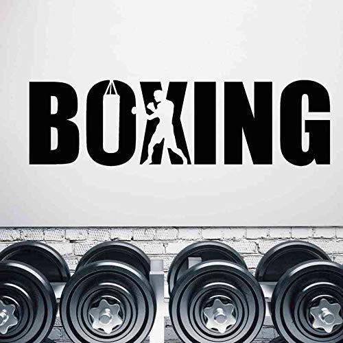 mlpnko Boxhandschuhe Aufkleber Kick Boxer Spielen Auto Aufkleber Free Fight Poster Vinyl Vorderwand Aufkleber Dekoration 30x105 cm
