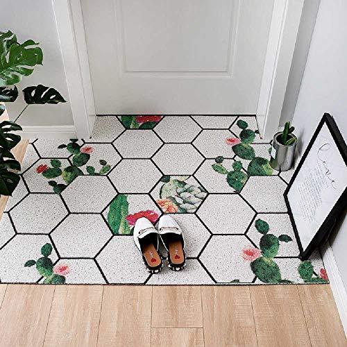 Deurmat met antislip deurmat voor deuren, glijvast, kunststof tapijt, draadmat, zonder drukrand. Kan worden afgesneden