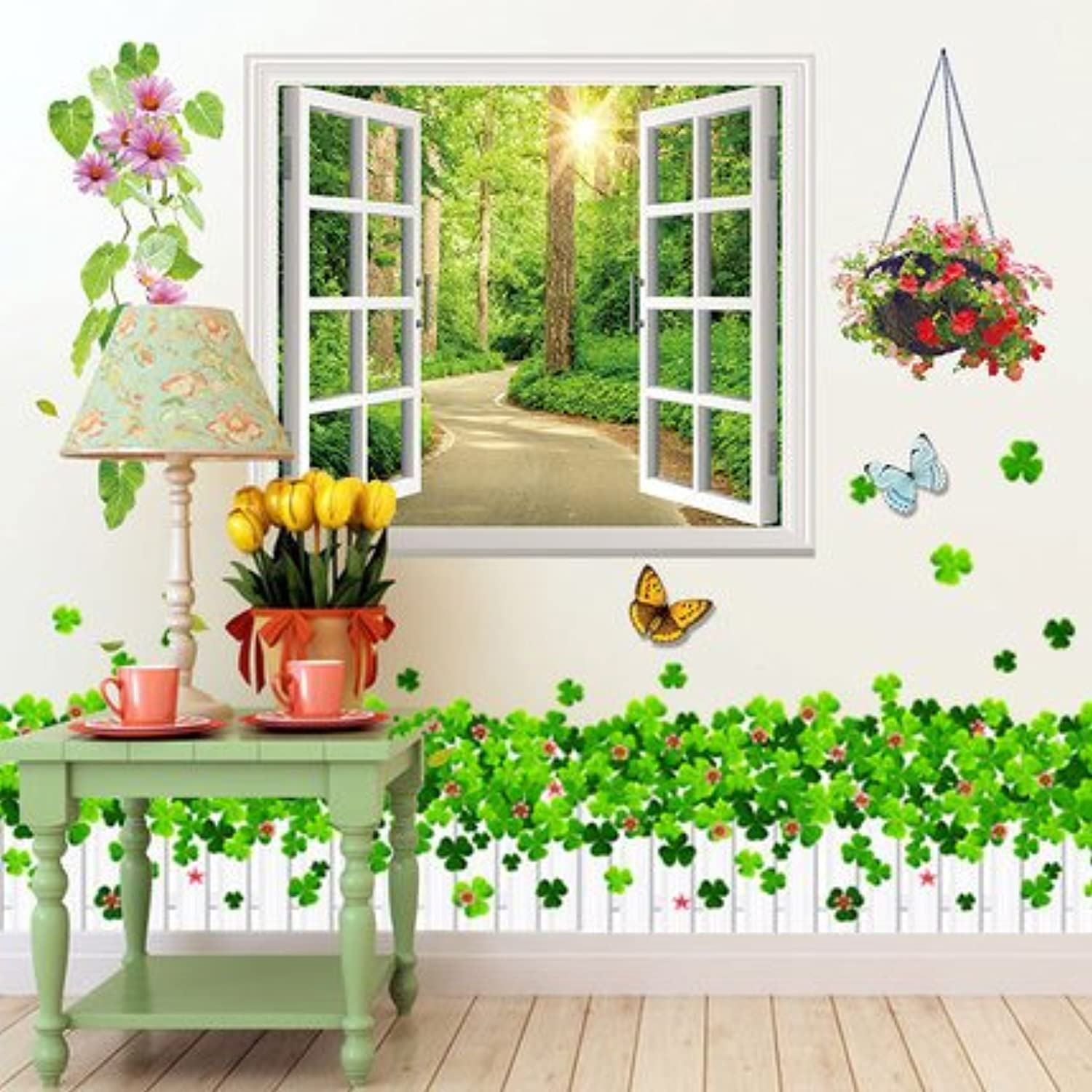 Znzbzt The Elegant and Fresh Wall Sticker Wall Art Simple and Innovative Decor self Adhesive Wall murals Window