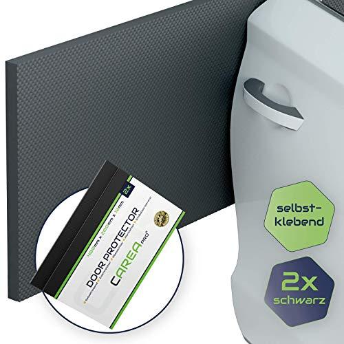 CAREApro ® Premium Garagen-Wandschutz | 2er Pack | Extra Stoßfest | Schwarz | 40cm x 20cm x 1cm | Selbstklebender Türkantenschoner