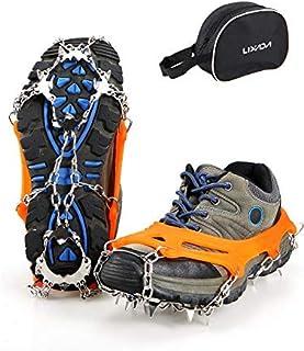 lzndeal 1 par Antideslizante crampones de Hielo Correa de tracci/ón para Zapatos Botas para Caminatas al Aire Libre Escalada