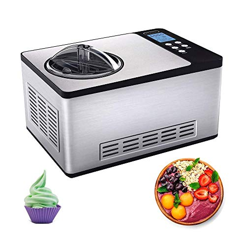 Check Out This LKNJLL Stainless Steel Ice Cream Maker,2.1-Quart, Fruit Ice Cream Machine Comes With ...