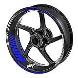 KETABAO 17' Wheel Rim Decals Stickers Stripes For Yamaha YZF R1 R6 R3 R1M MT-09 Tracer FZ8 FZ1 XSR 900 700 Blue